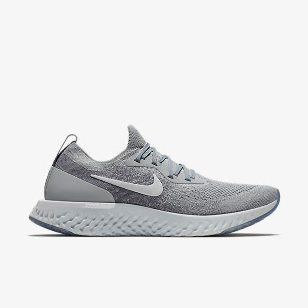 2dcb11d424e92 Nike Epic React Flyknit Wolf Grey