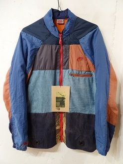 110479b13a31 That anonym nim handmade vintage euro jersey + nike ACG remake jacket blue    orange   navy AN-13