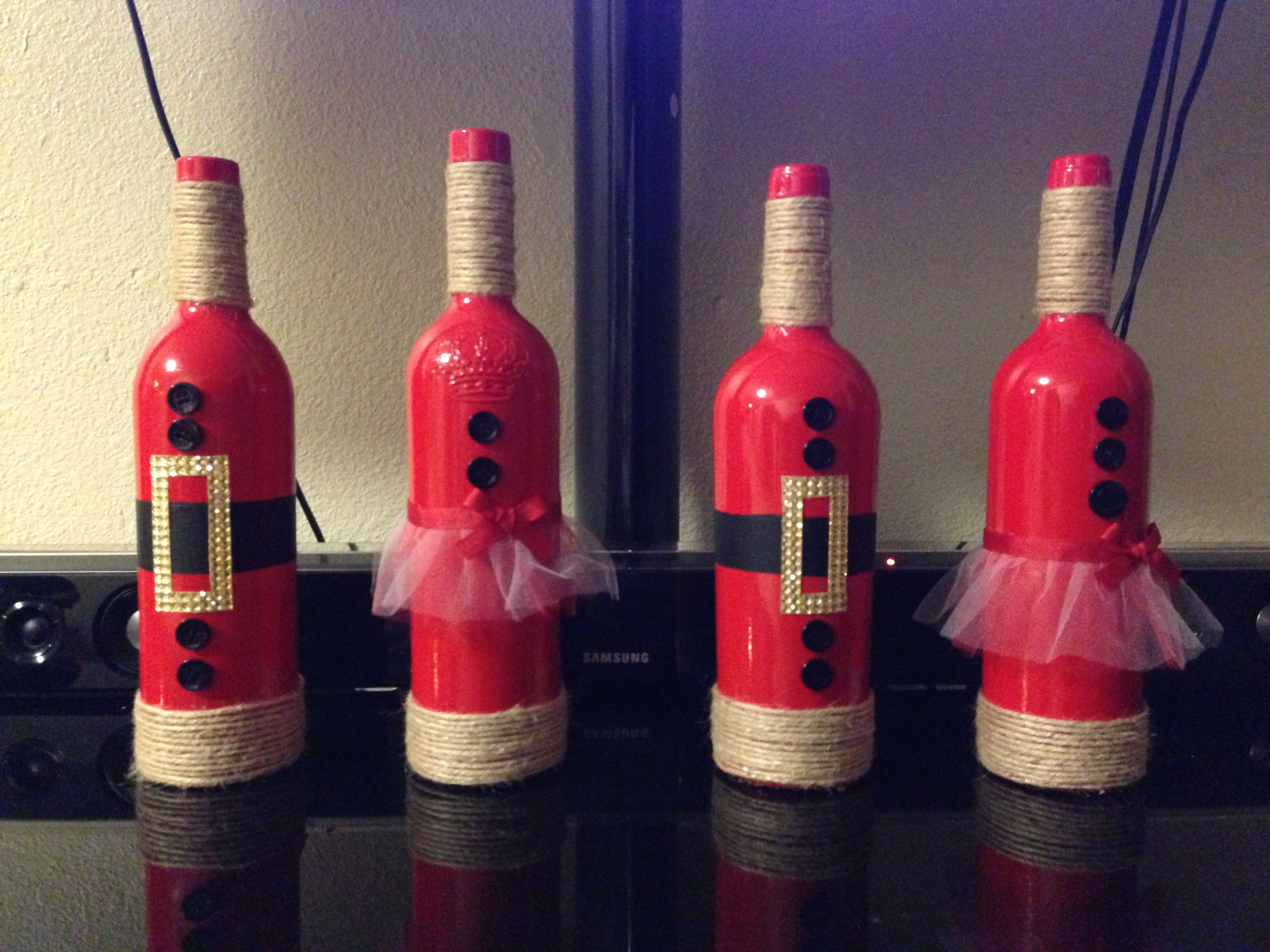 Bottle Christmas Decoration Diy Santa's Family Turn Your Wine Bottles Into Cute Christmas