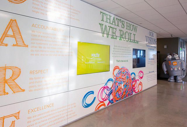 DIRTT Technology Wall With Beautiful Graphics