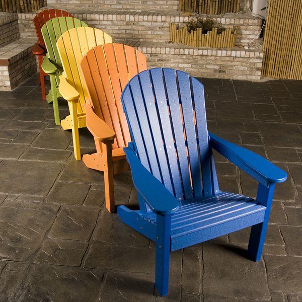Comfo Back Adirondack Chair Plastic Garden Furniture