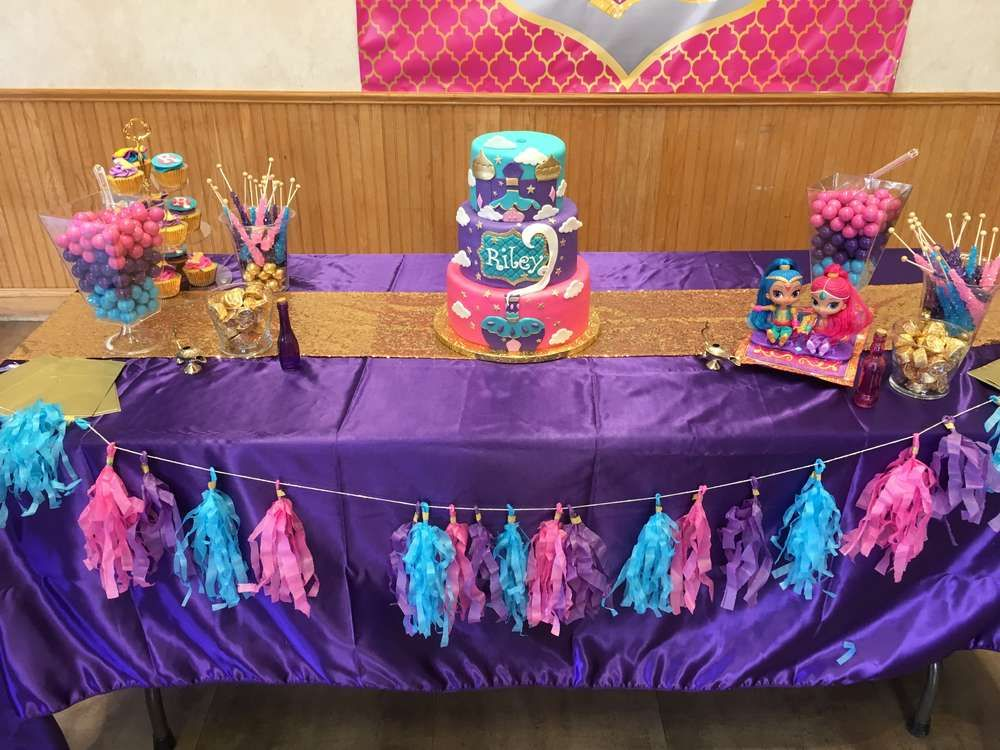 Rileys First Shimmer And Shine Birthday Divine