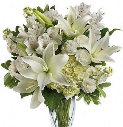 Simplicity of whites white floral arrangements and floral arrangement mightylinksfo