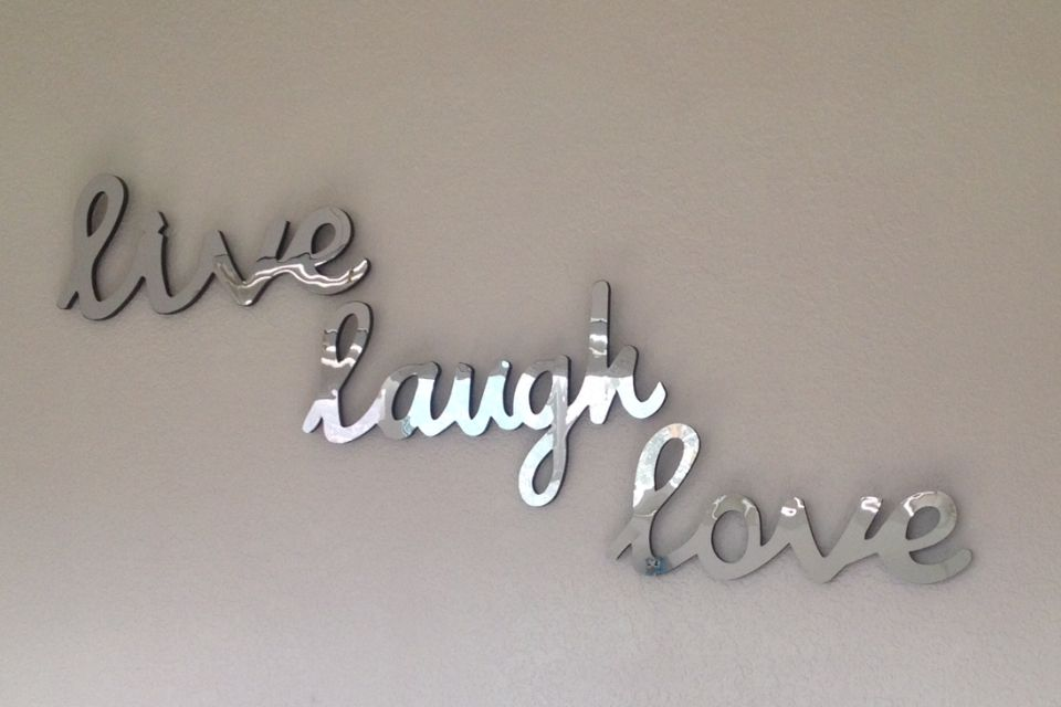 Cute Mirror Wall Decor Live Laugh Love