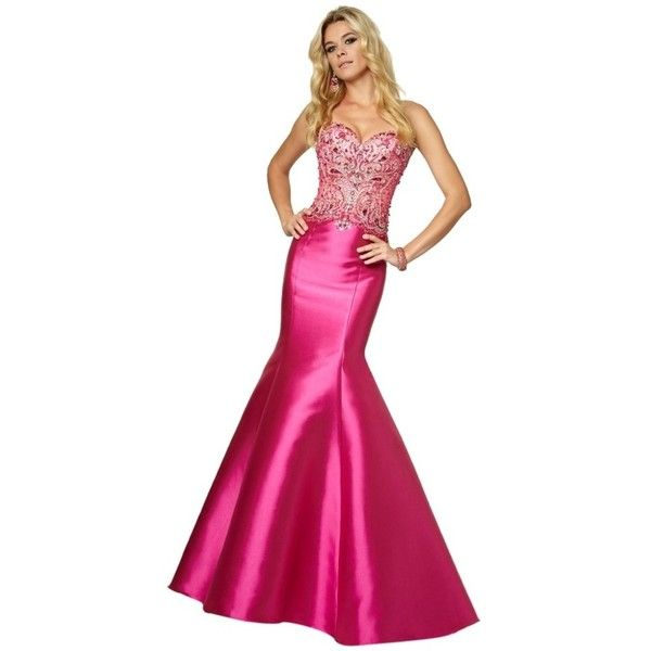 Pre-owned Mori Lee Fuchsia 97006 Dress ($285) ❤ liked on Polyvore ...