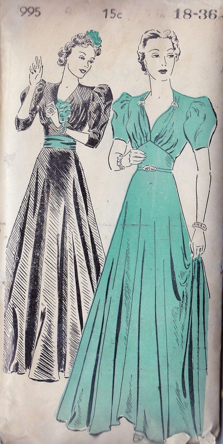 1930 formal dresses | 1930s Misses Evening Gown, Ball Gown, Prom ...