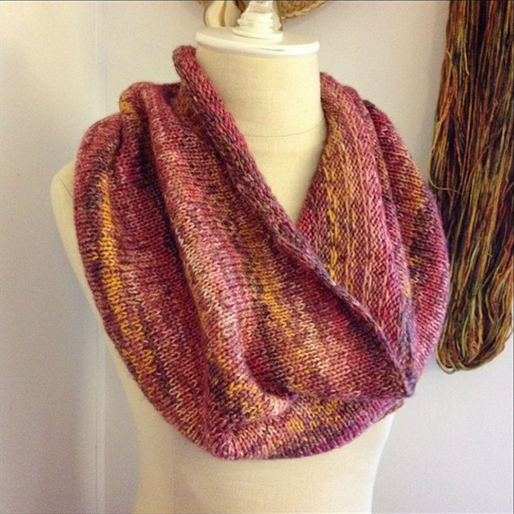 Raye Colourwork Cowl / Infinity Scarf Knitting Pattern for Mini ...