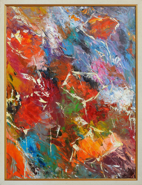 Original Abstract Flower Painting Modern Art Contemporary Art For