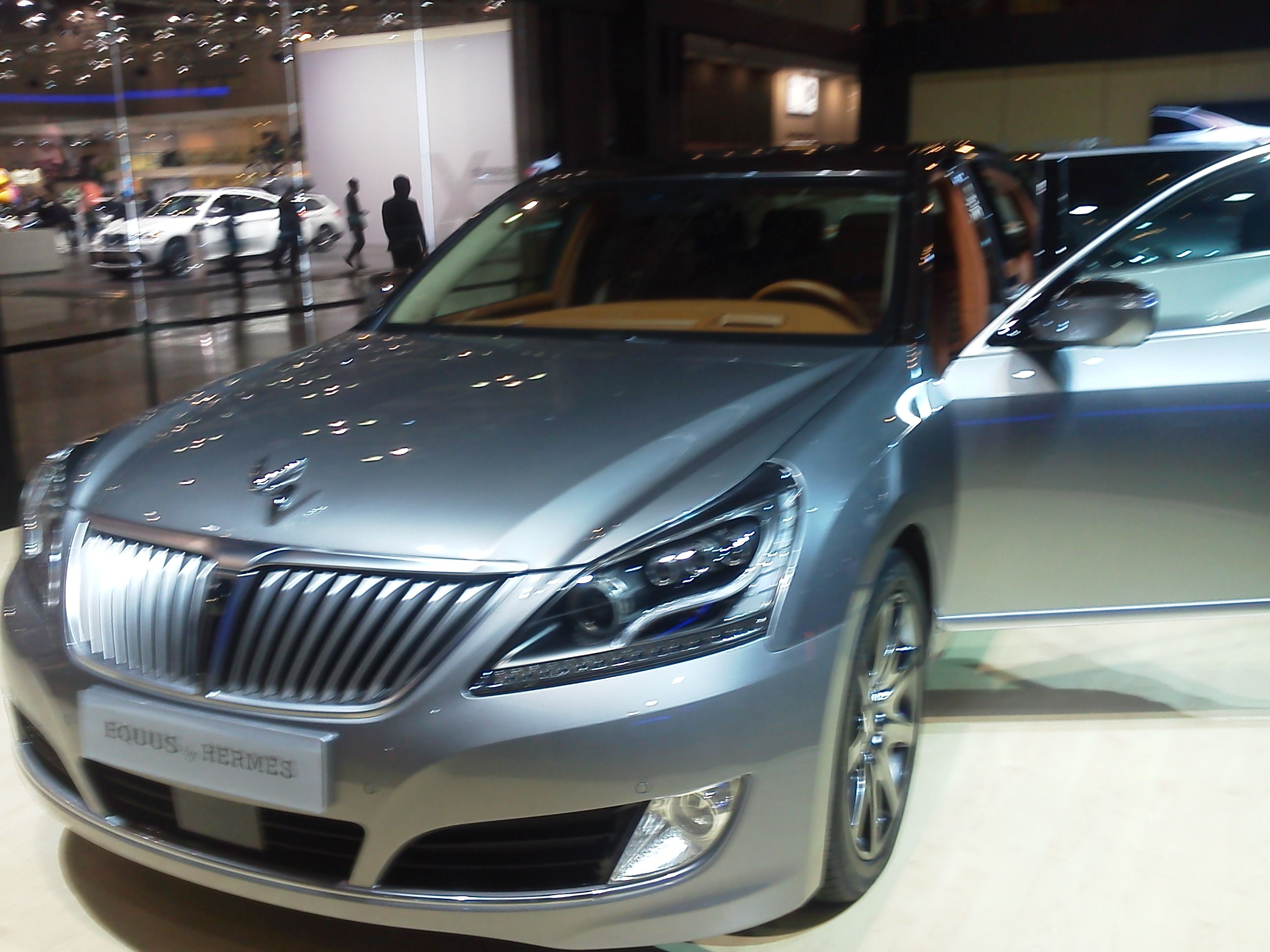 Hyundai Equus Hermes Edition At The Seoul Auto Show The Pictures Are Beautiful But You Have To See This One In Person Hyundai Hyundai Genesis Dream Cars