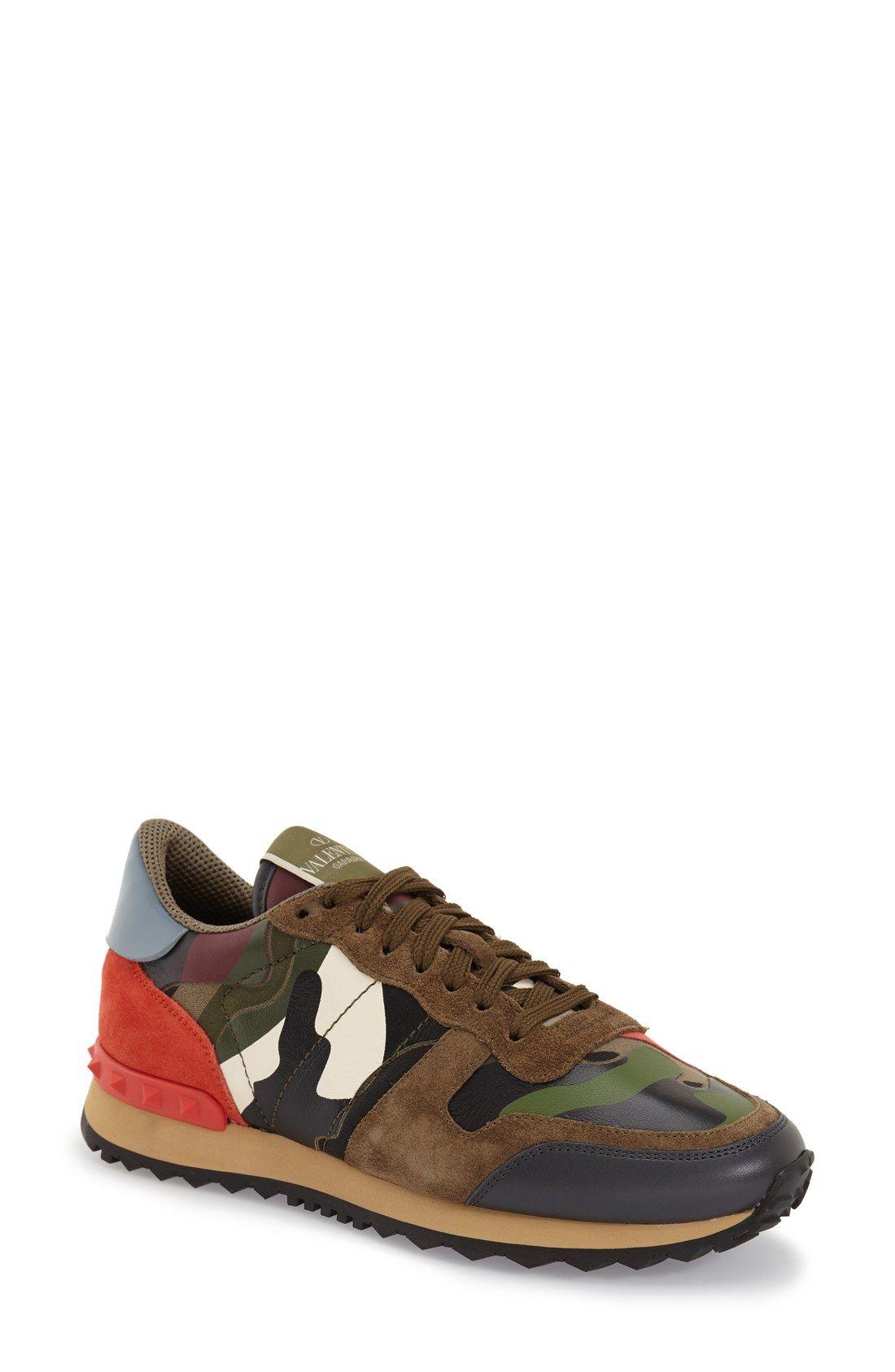 45749eab1d85 Valentino Rockstud Camo Sneaker (Women)   Nordstrom Valentino Camo  Sneakers, Valentino Shoes,