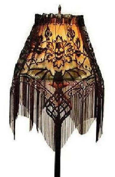 Photo of Heritage Lace Halloween Gala Fringe Lamp Shade Topper