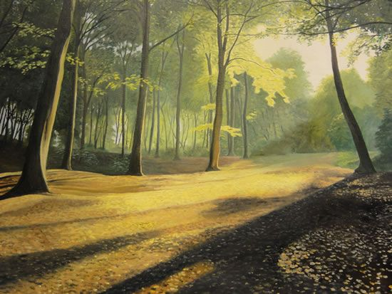Shaded Woodlands Landscape Oil Painting In Guildford Surrey Art Gallery Oil Painting Landscape Painting Landscape Paintings