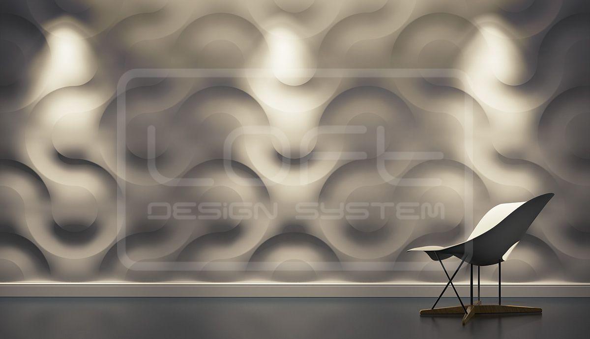 Dekor 01 Curves Panel Dekoracyjny 3d Loft System Panele