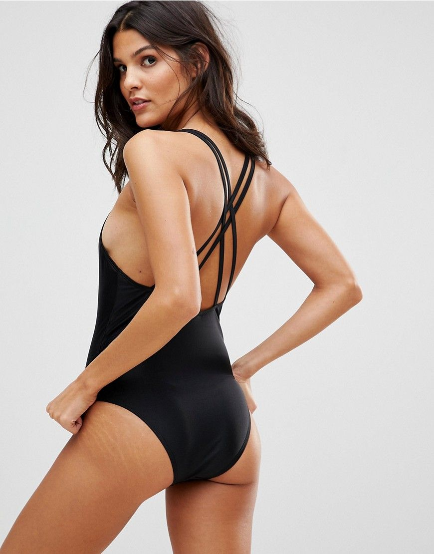 Scoop Neck Swimsuit - Black Brave Soul Discount Pay With Paypal Cheap Online Clearance Store Cheap Price JY5wMktoWA