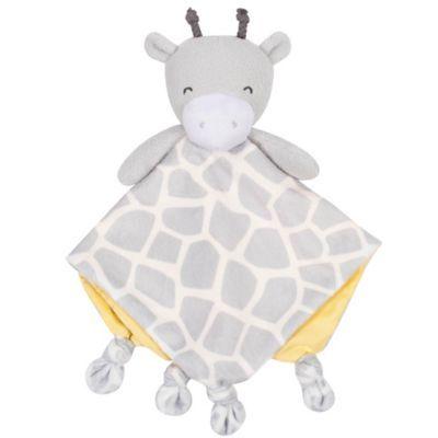 Gerber Giraffe Plush Velboa Security Blanket In Grey #securityblankets