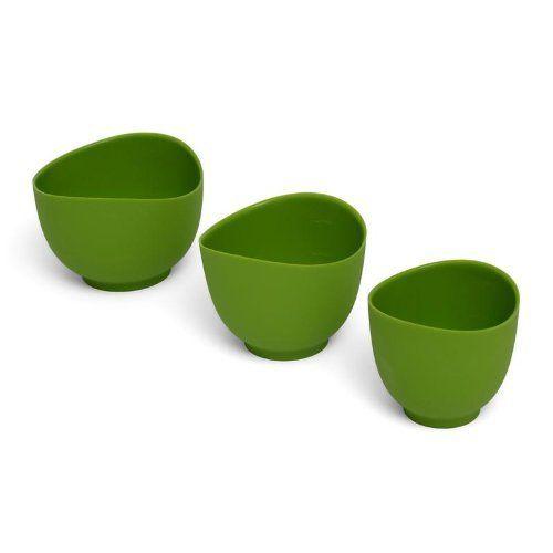 iSi Basics Flexible Silicone Mixing Bowls, Set of 3, 1 QT, 1.5 QT, 2 ...