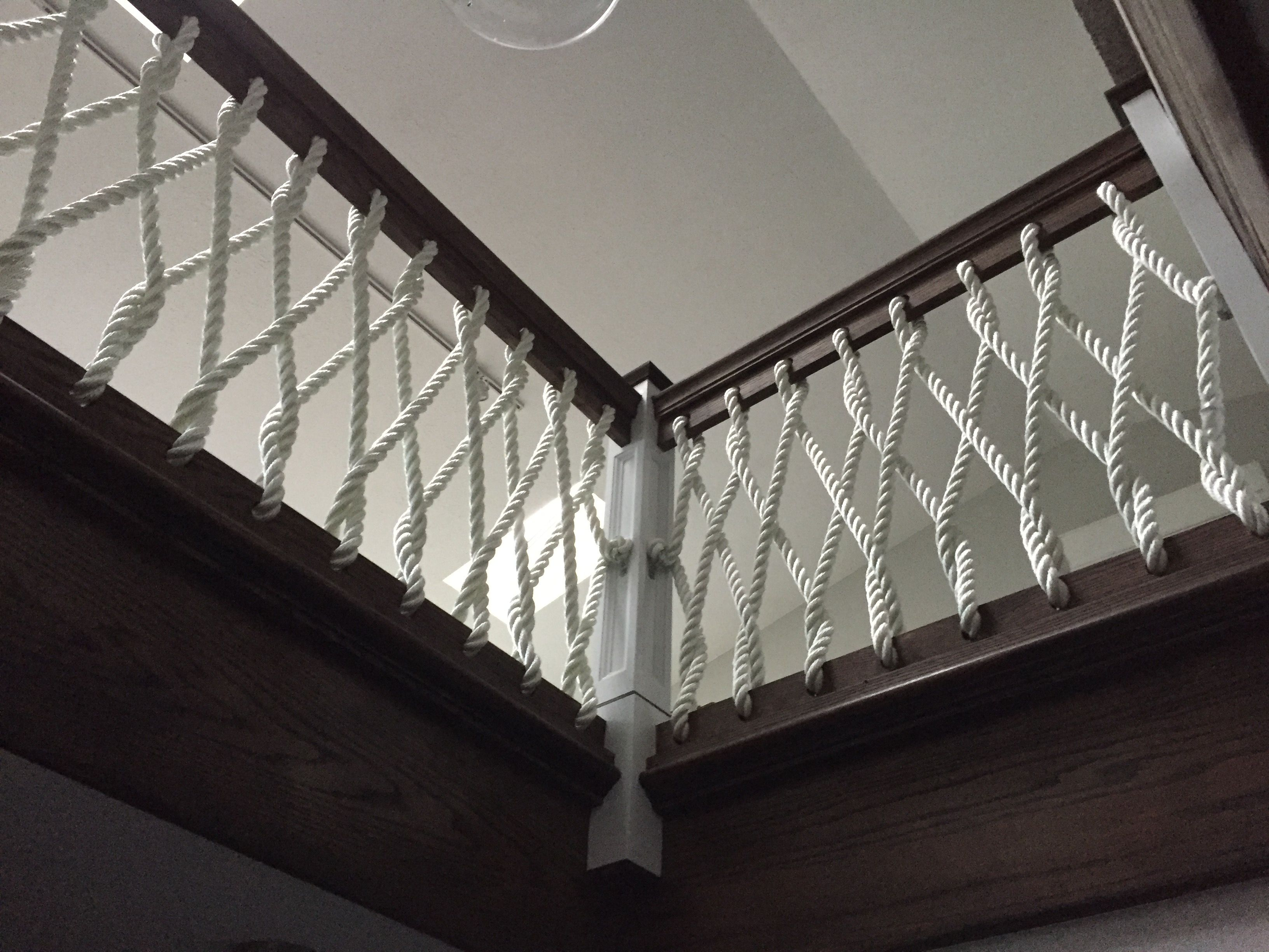Best Nautical Rope Stair Railing For Our Coastal Home Stair 400 x 300