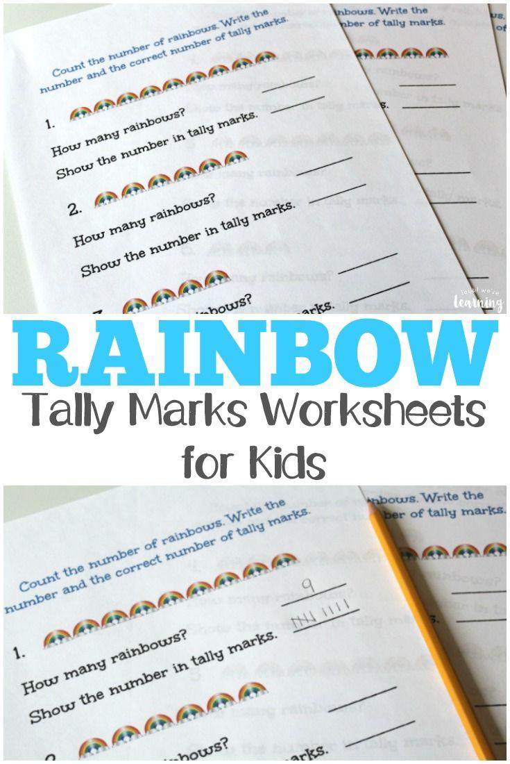 Rainbow Tally Marks Worksheets | Tally marks, Worksheets and Math