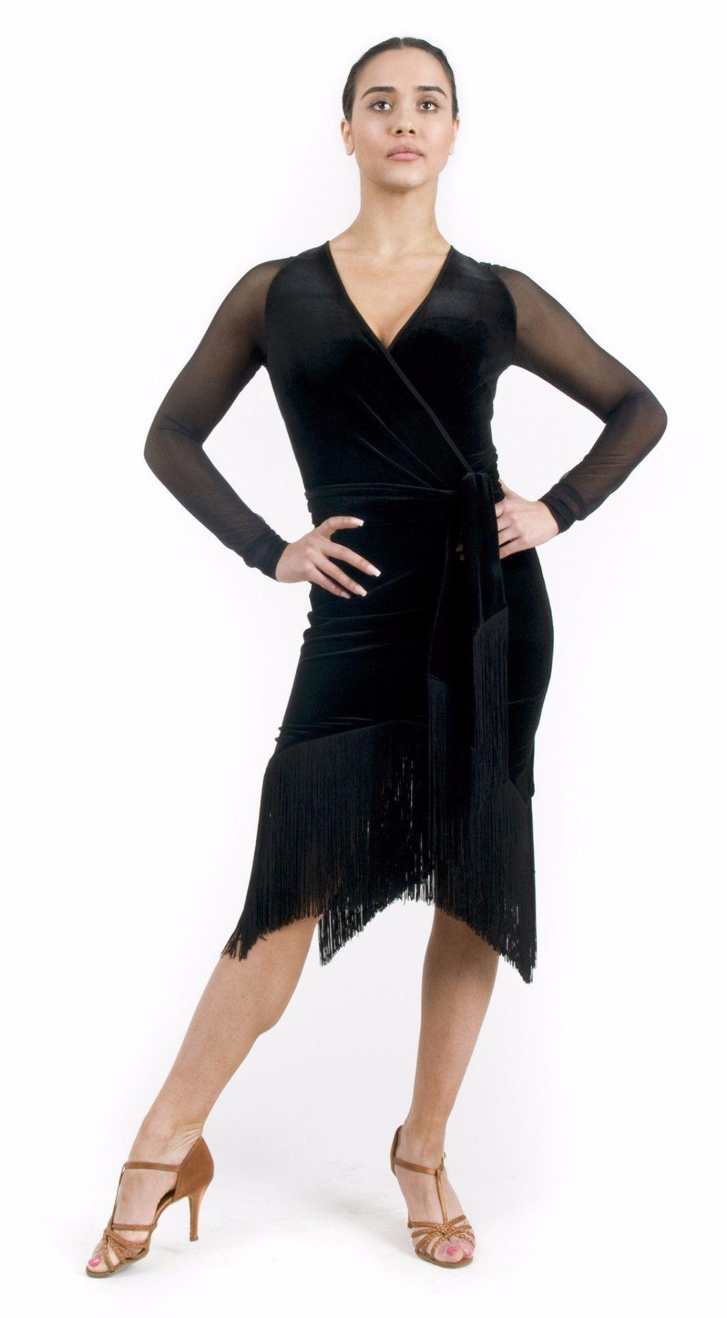 Carmen Fringe Dress Black Velvet Black Fringe Dress Fringe Dress Dresses [ 1920 x 1059 Pixel ]