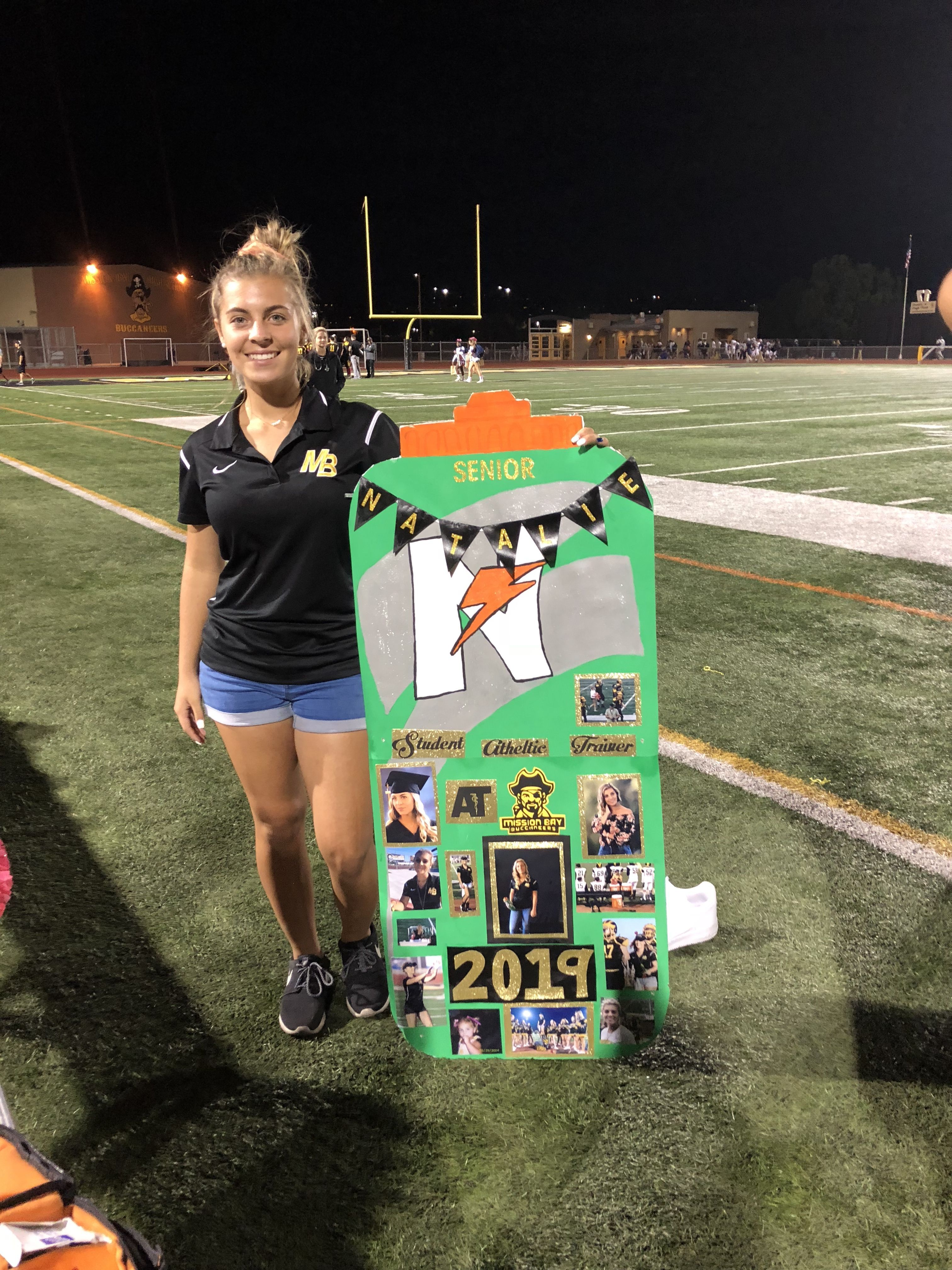 Water Girl Student Athletic Trainer Senior Night Poster