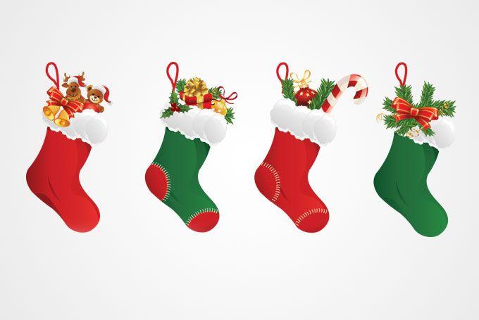free clip art christmas decorations christmas stocking vector rh pinterest com Christmas Lights Clip Art Free Christmas Clip Art Free Printable