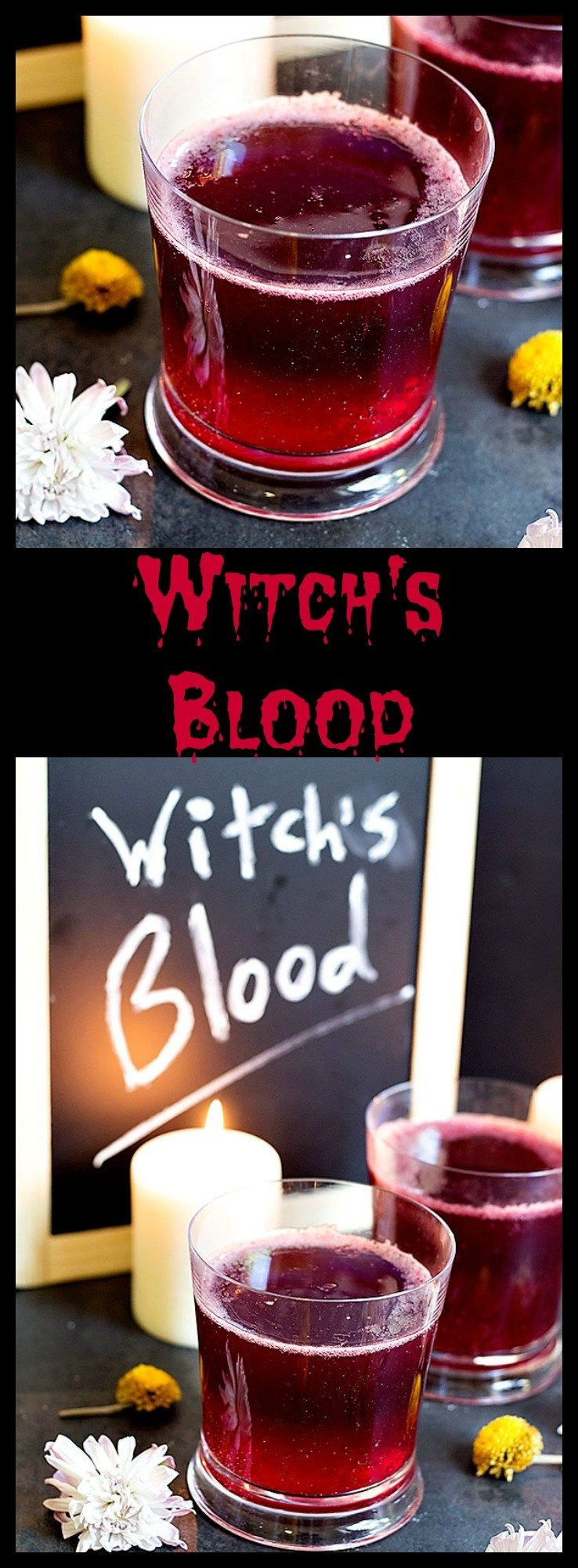 As Scary As The Name Might Be Witch S Blood Is Actually A Fun And Easy Drink Made With Only 3 Ingredient Halloween Drinks Punch Drinks Spooky Halloween Drinks