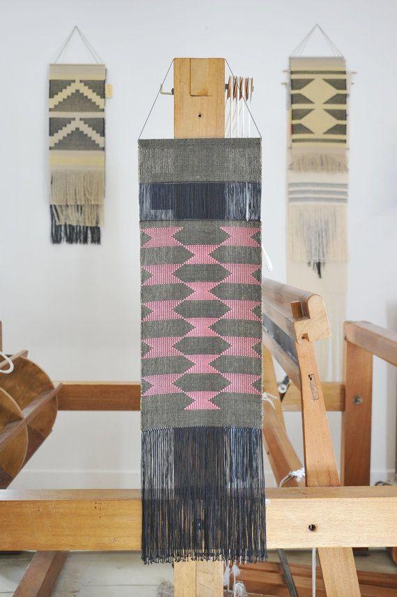 handwoven wall hanging fiber art tapestry weaving cotton linen weaving pinterest art. Black Bedroom Furniture Sets. Home Design Ideas