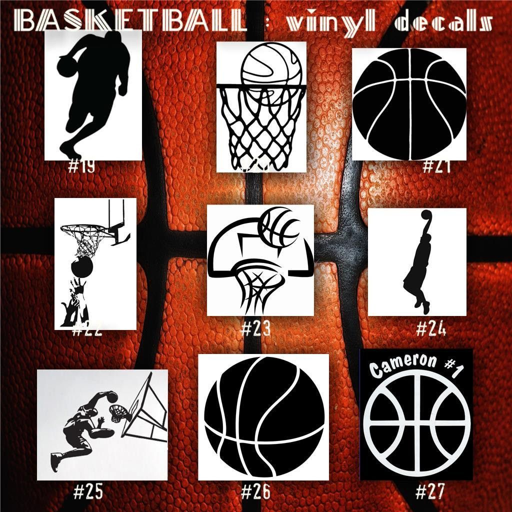 BASKETBALL Vinyl Decals Bball Stickers Hoops Car Decal - Vinyl car window decals custom