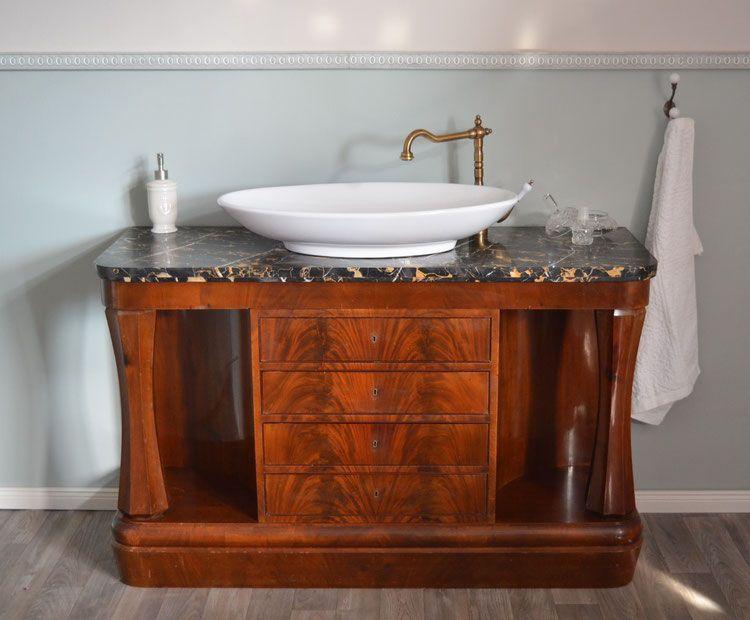 Bressuire Antiker Marmor Waschtisch Waschtisch Kommode Tisch