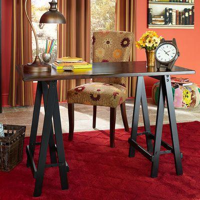 Pier one sawhorse desk (With images) | Black desk, Guest ...