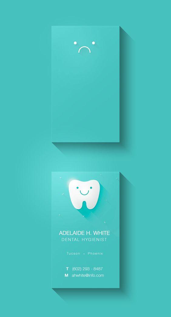 Business Card Concept by Antonella Spagnoli, via Behance: | dental ...