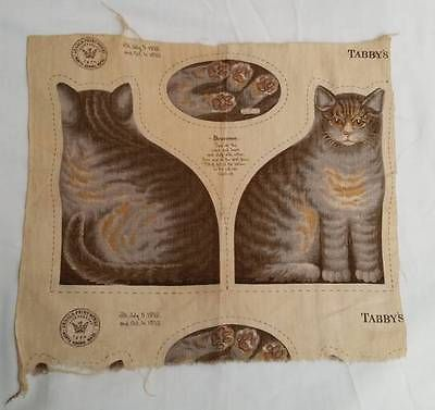 Antique Arnold Print Works Uncut Tabby Cat Or Kitten Pattern Ca 1892 Excellent With Images Tabby Cat Tabby American Folk Art
