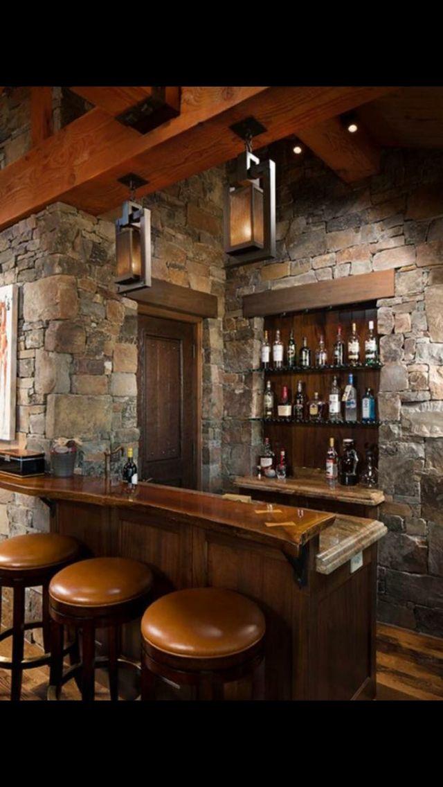16 esempi di angolo bar in casa con arredamento rustico idee casa pinterest bar en casa - Angolo bar a casa ...