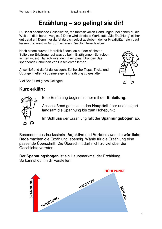 Deutsch Arbeitsmaterialien Ubungen Aufbau 8