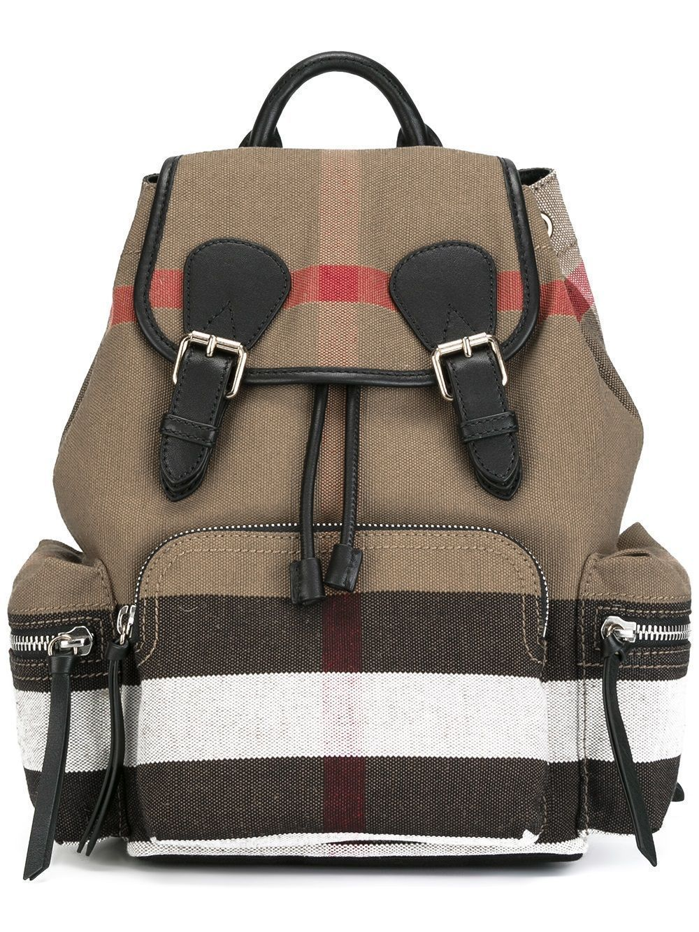 df5d8f7382a7 Details about New w o Tag Athentic Burberry Check Canvas Backpack ...