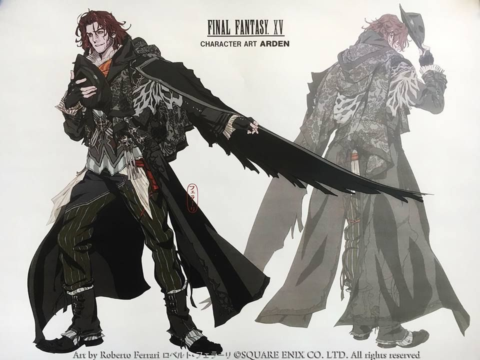Character Design Final Fantasy Xv : Ardyn concept art izunia final fantasy xv