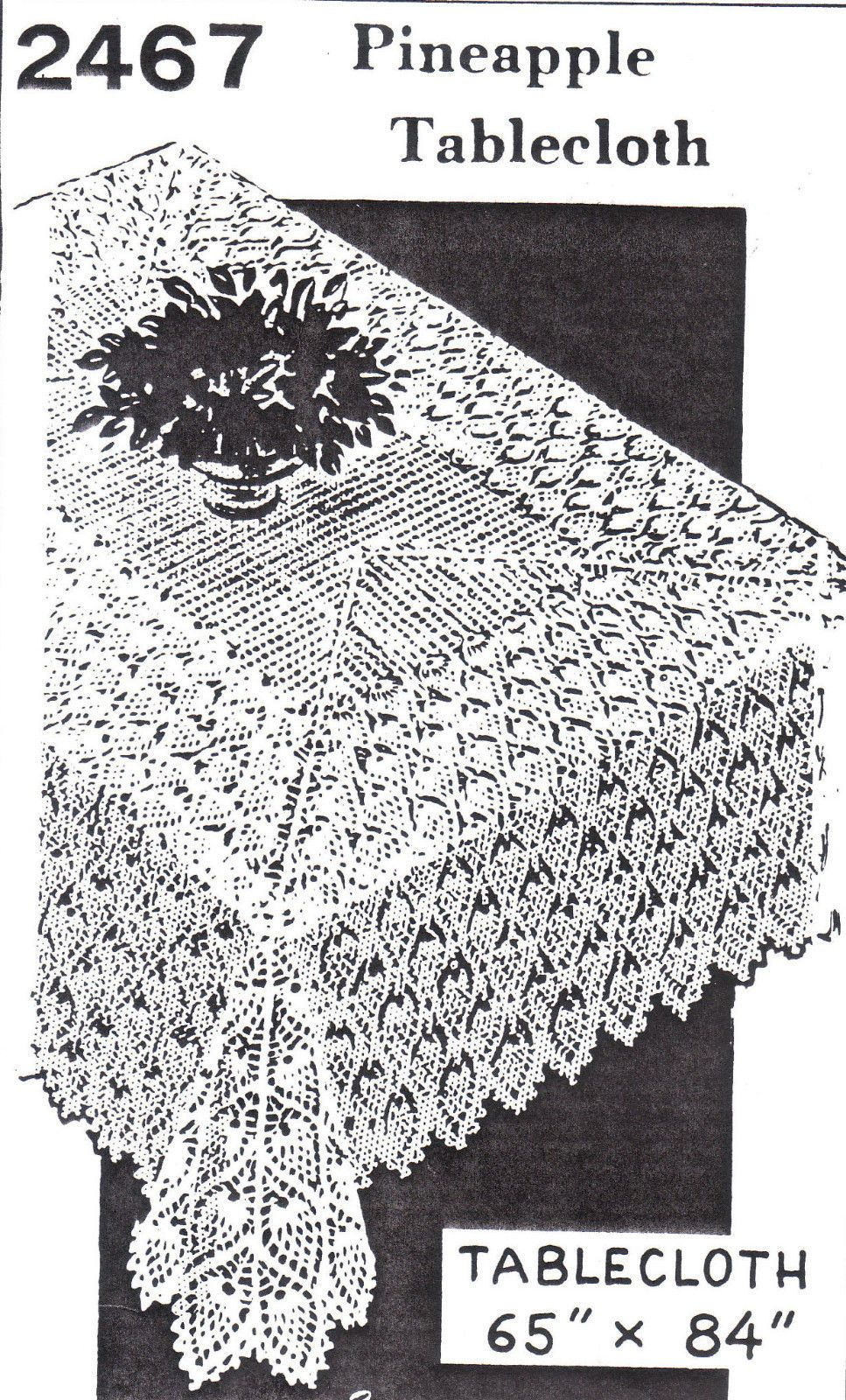 Pineapple Tablecloth Cloth Crochet Pattern Vintage Mail Order | eBay ...