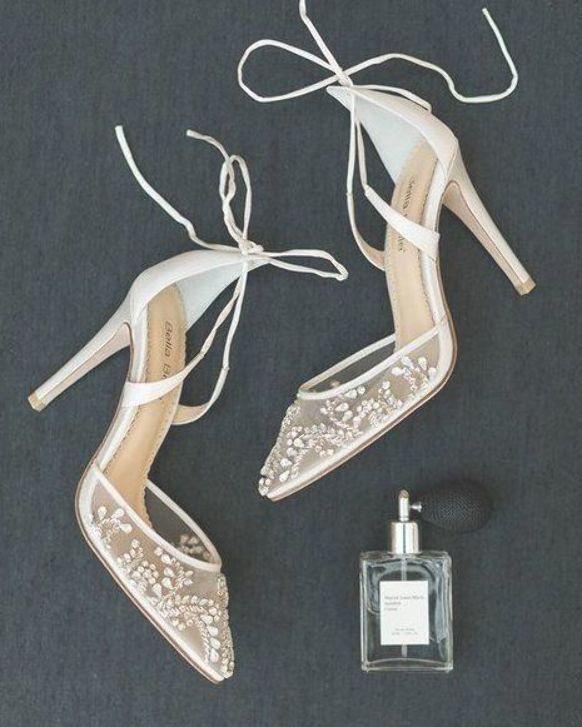 Romantic wedding shoes, wedding details, modern wedding , Asher Gardner Photogra...