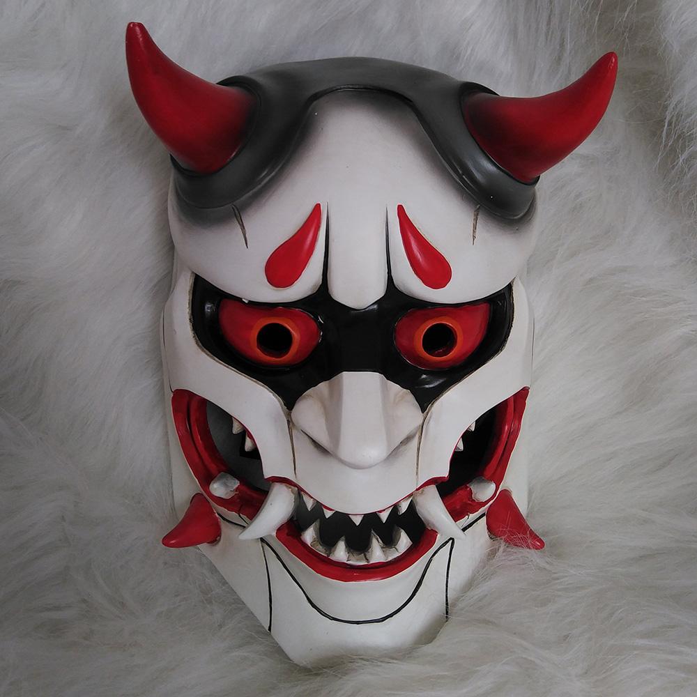 Genji Skin Oni Mask Halloween Fancy Mask Cosplay Prop Collection Fiberglass
