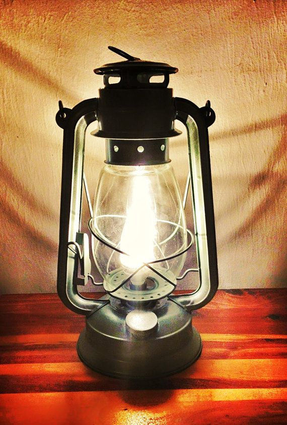 Electric Lantern Table Lamp Large Size Hand Painted Lantern Converted Task Lamp Railroad Hurricane Kerosene Light Electric Lanterns Lamp Lantern Table Lamp