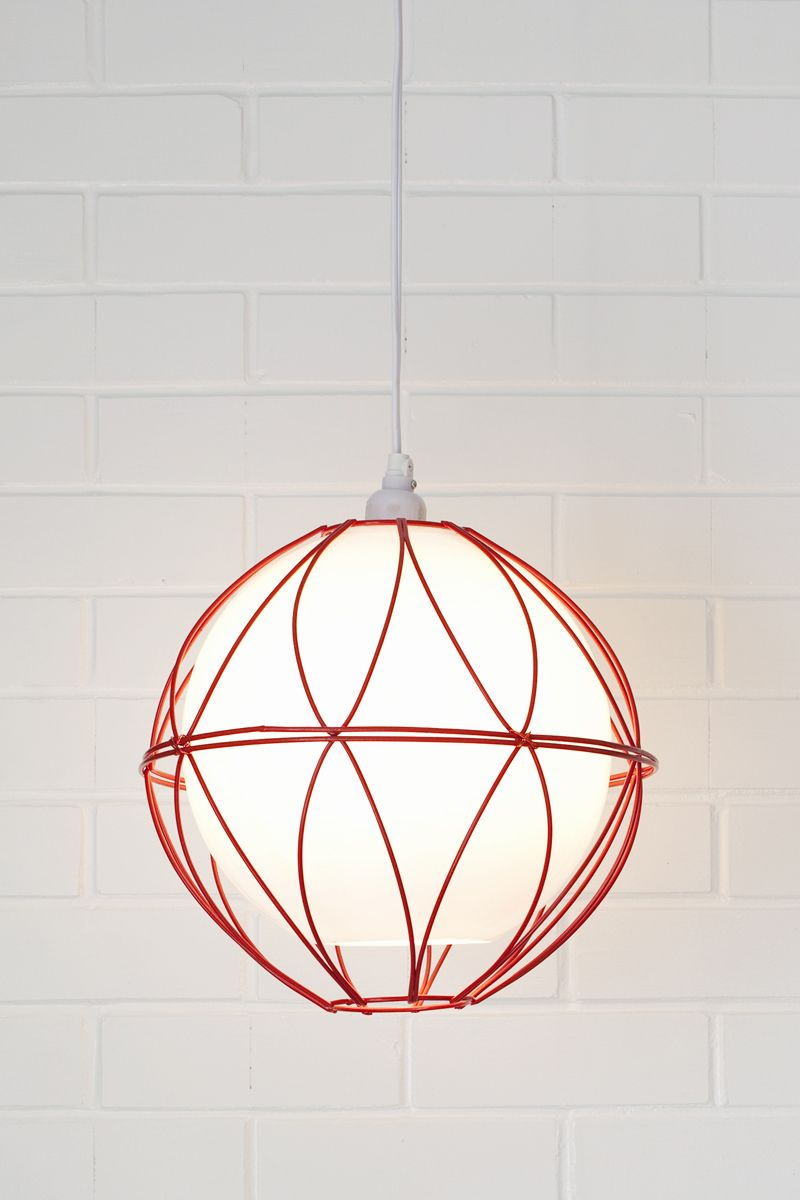 Easy lighting DIY with no wiring required— Wire basket globe pendant ...