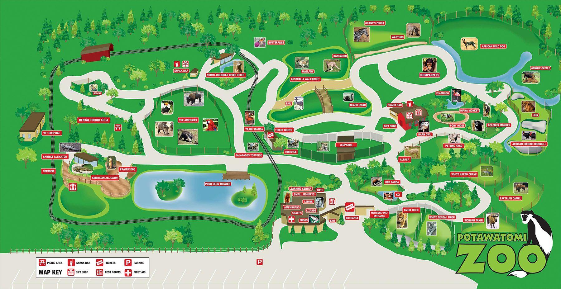 potawatomi zoo map Zoo Map Potawatomi Zoo our zoo Pinterest