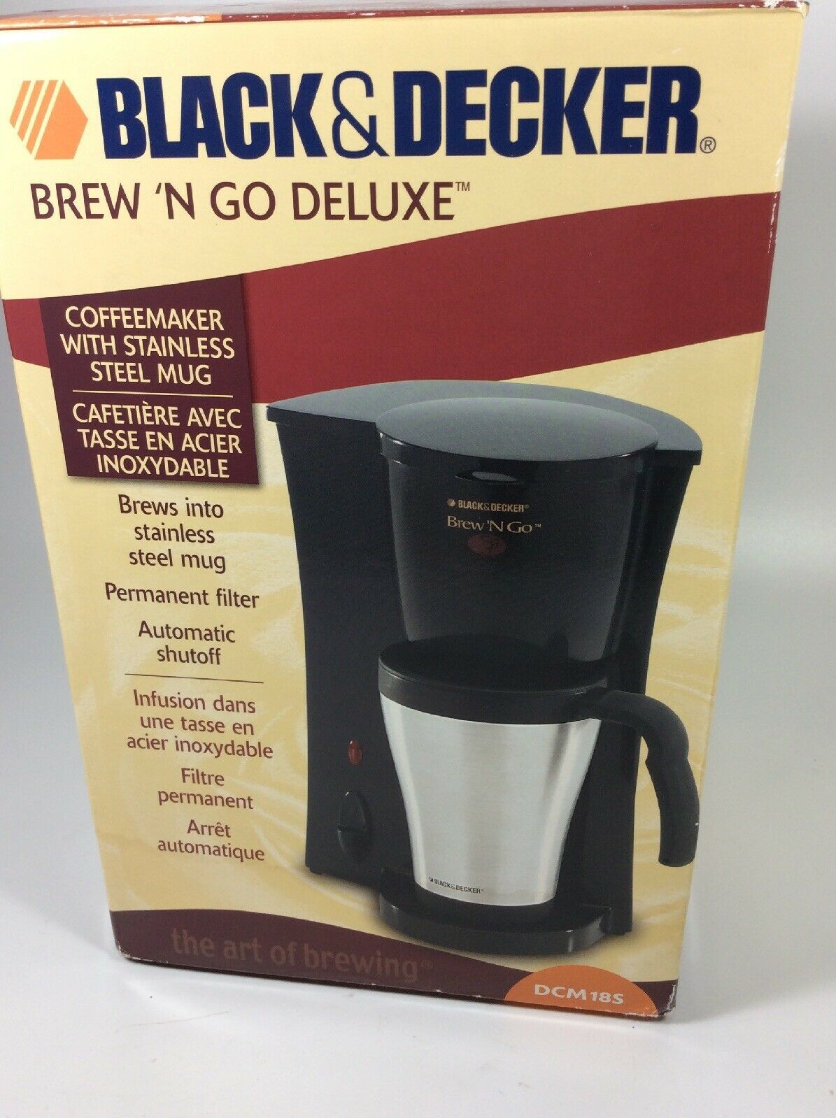BLACK+DECKER Brew 'n Go Personal Coffeemaker with Travel