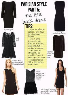 Parisian Style, Part 5: The Little Black Dress - The Stripe #parisianstyle