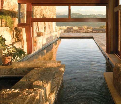Indoor Outdoor Pool With Retractable Door/window By CCYArchitects.com