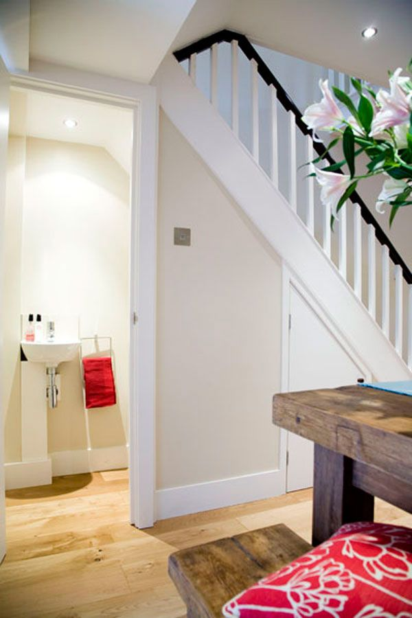 Tips to change the under stairs to become a guess bathrom ...