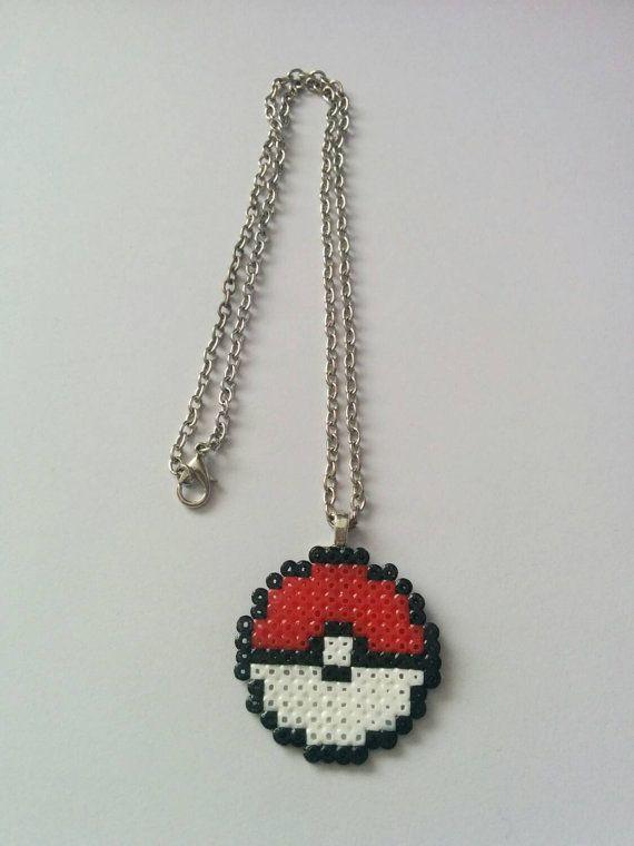 Pokemon pokeball i chose you fuse bead necklace