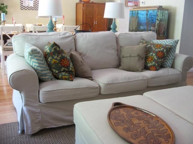 After The Extensive Discussion And Review Of Blekinge White The White Cotton Washable Cover I D Reapply Appr Home Living Room Family Living Rooms Slipcovers