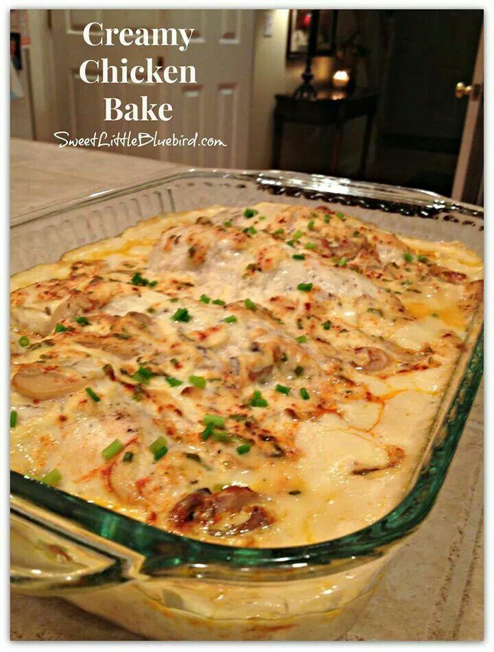 Yummy Chicken Creamy Chicken Bake Baked Chicken Recipes Chicken Recipes