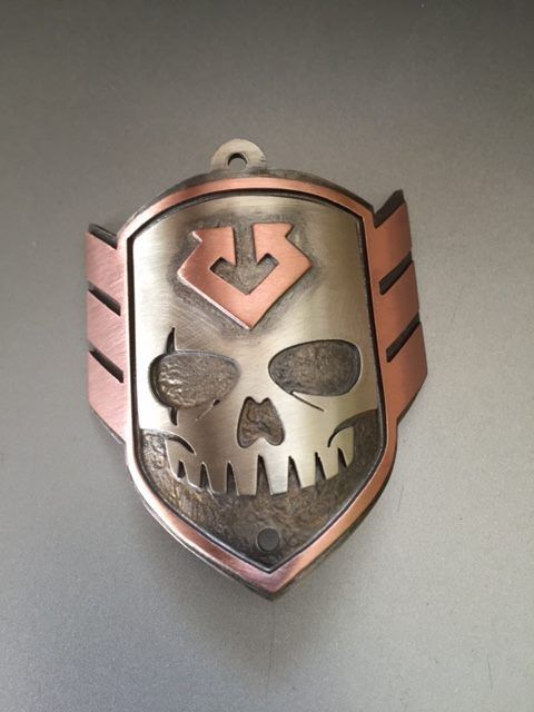SKULL Head Badge 2
